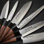 Well Designed Kanetsune KC-950 DSR-1K6 Stainless Hammered Chef's Knives
