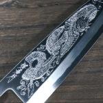 Japanese Art Engraved Kasumi Knivesby Sakai Takayuki