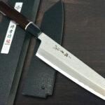 Sakai Takayuki Homura Premium – Stylish Aogami Double-edged Kengata Chef Knives