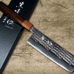 Yu Kurosaki SENKO R2 Firework-textured Nakiri & Slicer with Stylish Rosewood Handle