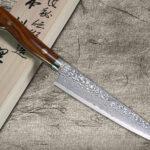 Almost the last in stock, Legendary Shigeki Tanaka SG2 Damascus Gyuto & Santoku with Desert Ironwood Handle