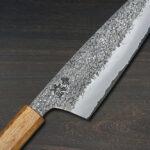 Sakai Takayuki Homura Guren by Itsuo Doi – Aogami Kurouchi Hammered Chef Knives