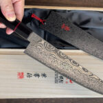 Kanetsune NAMISHIBUKI Unique 101 Layer Damascus Chef's Knives in Gift Box